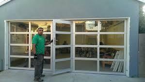 full view garage doorGlass Garage Doors With Passing Door Full View Aluminumglass Cost