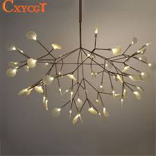 tree branch light fixture stirring modern led large chandeliers lighting lamp for interior design 3