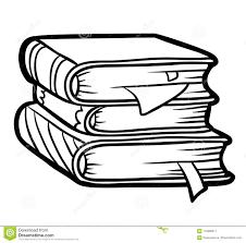 Libro Da Colorare Pila Di Libri Illustrazione Vettoriale