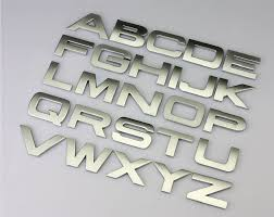 car letter decals 3d letter english letters stickers metal stickers decals for