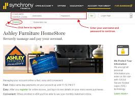 Ashley Furniture line Payment Easy Bill Pay