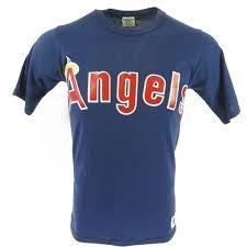80s los angeles agnels mlb tshirt sand knit