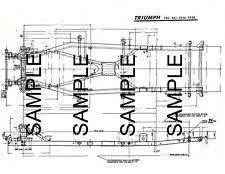 triumph colour chart triumph tr2 tr3 tr3a tr3b frame diagram dimensions chart mof bk