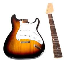 swamp diy build your own electric guitar kit sunburst stratocaster style