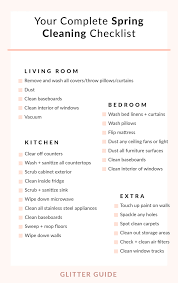 Your Complete Spring Cleaning Checklist Glitter Guide