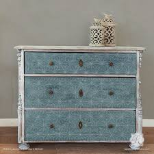 painted dresser drawers with geometric and modern asian pattern shibori japanese furniture stencils royal asian themed furniture