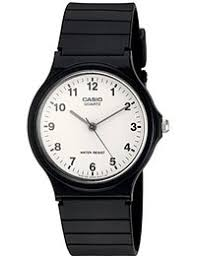 casio watches shop amazon uk casio collection men s watch white analogue display and resin strap mq 24 7bll