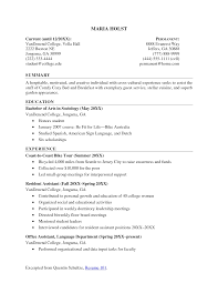 Example Of Business Resume Current College Student Resume Examples Business Template 27