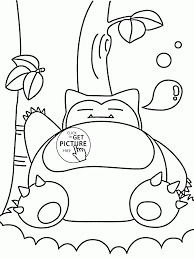 Big Pokemon Snorlax Coloring Pages For