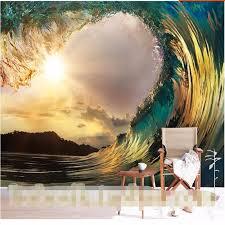 mar surf view quarto pintura onda sala