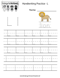 Generous Free Kindergarten Worksheets I For Letter Tracing ...