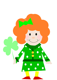 Irish girl clip art
