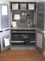 project organized home office armoire. no office problem repurpose a media cabinet or armoire into your own personal project organized home