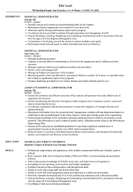 Hospital Resume Sample Hospital Administrator Resume Samples Velvet Jobs 9