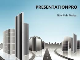 Planning A Presentation Template City Planning Powerpoint Template Background In Architecture