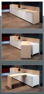 Pivoting table and wall unit table pivotante - a integrer entre tiroirs et  placards