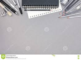 office drawing tools. royaltyfree stock photo download gray office desk with spiral notebook and various drawing tools