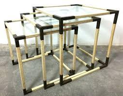 italian interlocking coffee tables