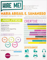 colourful cv