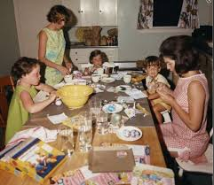beach and her little sister sally color eggs with first lady jacqueline kennedy caroline and john kennedy in palm beach on easter weekend 1963
