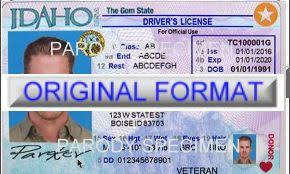 Georgia License Card Novelty Driver Fake Id Template Id