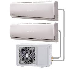 air conditioning pipe. multi-split 18000 btu inverter air conditioner system with single outdoor unit and two 9000 conditioning pipe t