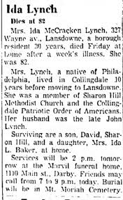 Obituary for Ida Mc Cracken Lynch (Aged 82) - Newspapers.com
