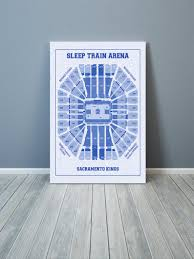 Kaiser Permanente Arena Seating Chart Vintage Print Of Sleep Train Arena Seating Chart On Premium Photo Luster Paper Heavy Matte Paper Or Stretched Canvas Free Shipping
