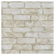Small Picture Wallpaper Brick Design 205 x 33 White RONA