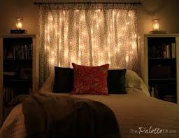 lighting ideas for bedroom. she hangs string lights above her bed and the final step is so romantic lighting ideas for bedroom