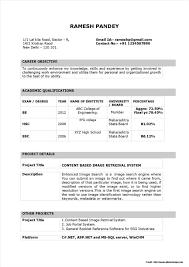 Download Resume Format In Word 2007 Resume Ms Word Format Download