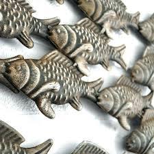 wall art metal fish fish shoal wall art metal wall art shoal of fish metal fish