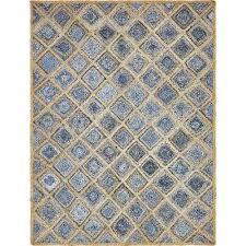 braided jute bengal blue 8 0 x 10 0 area rug