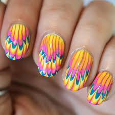 Water Nail Art: How to Do Water Marble Nail Art | LadyLife