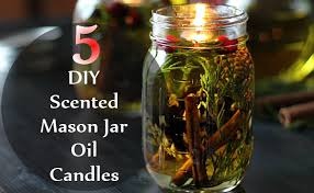 diy scented mason jar oil candles oil candles are one the best kind of natural candles which are available you can easily make them at home without the