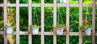 a garden fence with trellis