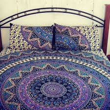 Mandala quilt cover + 2 matching from TheFoxAndTheMermaid on Etsy & Mandala quilt cover + 2 matching pillowcases, Boho duvet cover and  pillowcases, Round Adamdwight.com