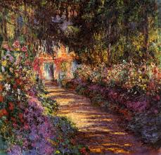 pathway at giverney by claude monet 1901 oil painting