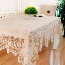 fabric table covers tablecloth fabric types square round hook needle crochet dining table cloth fabric table