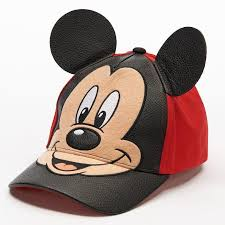 disney s mickey mouse 3d ears baseball cap toddler boy size 2t 4t red