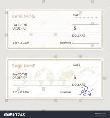 Bank Check Template Set Blank Form Stock Illustration 462954490 ...