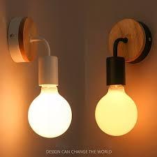 home lighting fixtures. Modern Led Wood Wall Lamp Iron Metal Light Fixtures Living Bedroom Home Lighting Lamparas De I