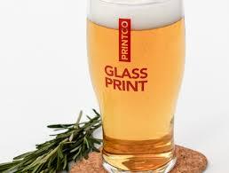beer pint glass printing