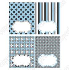 Baby Boy Elephant Printable Blank Tent Cards