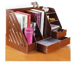 diy wooden premium desk organizer free table organizer rack