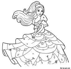 Barbie Coloring Pages Princess Coloring Pages Big Bang Fish