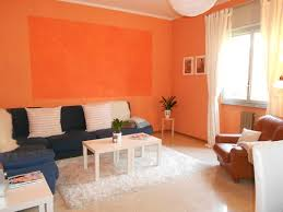 orange wall paintThe Advantages And Disadvantages Of Orange Living Room
