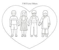 Small Picture Poster Be Kind To One Another And Love One Another Coloring Page