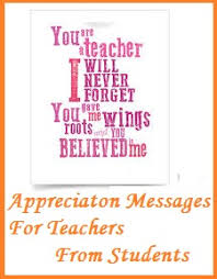 Teacher Message Thank You Messages Teachers