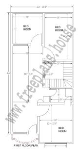 house plan for 20 feet by 45 feet plot new 22 44 feet house plan